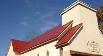Culpitt Roofing Incorporated: Double-lock standing seam metal roofing for churches; serving Wisconsin, Minnesota, Northern Illinois, Iowa.