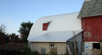Culpitt Roofing Incorporated: Agricultural Double-lock standing seam metal roofing, serving Wisconsin, Minnesota, Northern Illinois, Iowa.